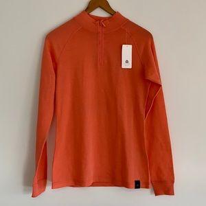 Mountain Warehouse Merino Wool Long Sleeve Zip Neck Peach Sz10 NWT